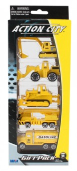 5 Piece Action City Construction Vehicle Gift Pack RT38814