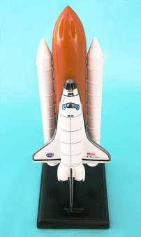 Space Shuttle Atlantis Full Stack E4120 Crafted Executive Display Model 1:200