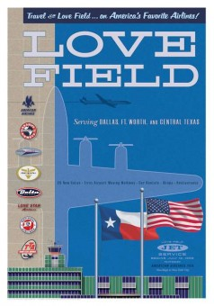 DAL Love Field Jet Age Retro Poster 14x20 by Chris Bidlack JA024