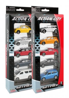5 Piece Street Car Action City Vehicle Gift Set RT388725