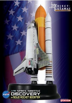 """Project: Cutaway Space Shuttle """"Discovery"""" w/Solid Rocket Booster 1:144 Scale"""