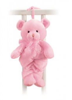 MY 1ST TEDDY PULL STRING MUSICAL PINK 13""