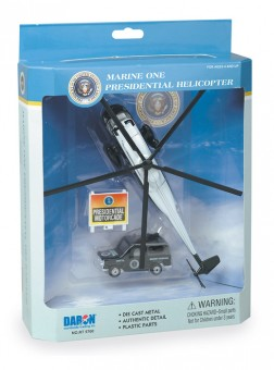 Marine One Presidential Helicopter VH-3D Sea King 3-Piece Play Set RT5760