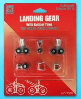 Landing Gear for Hogan Wing Models McDonnell Douglas MD-11 w/ Rubber Tires HG5330 Scale 1:200