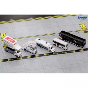 Emirates Ground Equipment #1 Set w/Buses Gemini 200 G2UAE638 Scale 1:200