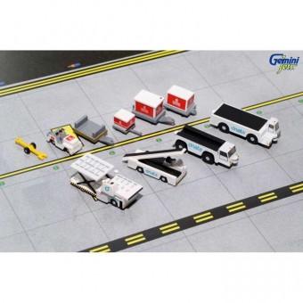 Emirates Ground Equipment #2 Set with Tugs Gemini 200 G2UAE639 Scale 1:200