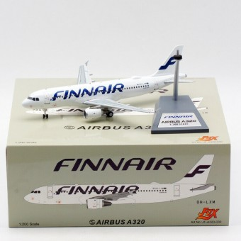 Finnair Airbus A319-112 OH-LVL with stand JFox/InFlight JF-A319-006 scale 1:200