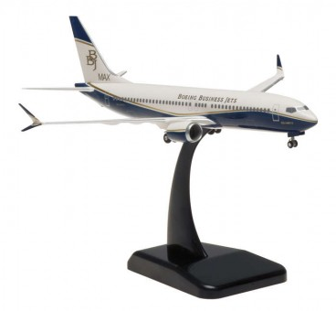 Boeing Business Jet 737 Max 8 Scimitars Hogan w/Gears HG10437G Scale 1:200