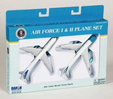 Air Force I & II Plane Set Die Cast Metal Twin Pack RT5733