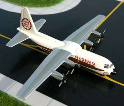 Alaska L-100 Gemini Jets Scale 1:400 GJ527 GEMINI ALASKA L-100 (C-130) 1/400