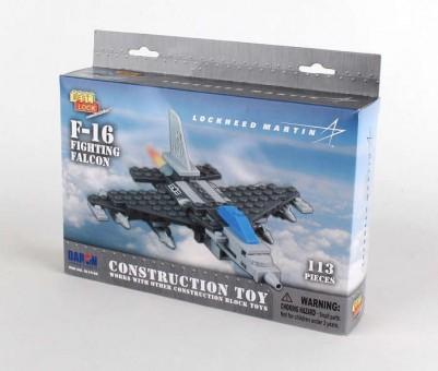 113 Piece F-16 Fighting Falcon Jet W/Action Figure BL14188 by Best-Lock