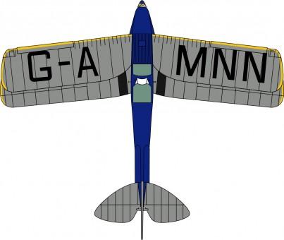 "Oxford Highly detailed History of Flight  de Havilland DH.82A Tiger Moth ""Spirit of Pashley"" G-AMNN  Item: 72TM007  1:72 Scale"