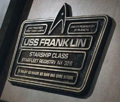 U.S.S. Franklin Dedication Plaque Star Trek Eagle Moss EM-STPLQ8