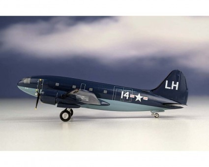 Western US Navy Curtiss Commando C-46  Reg: 14 Aeroclassics-Western Models WM219755 scale 1:200