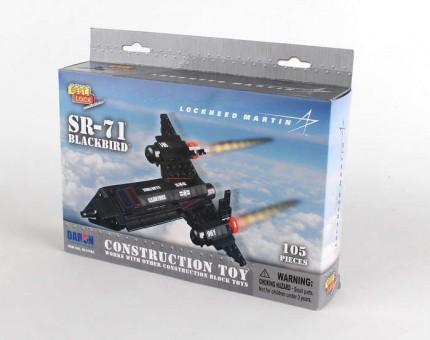 105 Piece SR-71 Blackbird Jet W/Action Figure BL14186 by Best-Lock