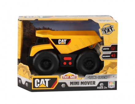 CAT Dump Truck With Sound & Lights Mini Mover Ages 3+ CAT34612