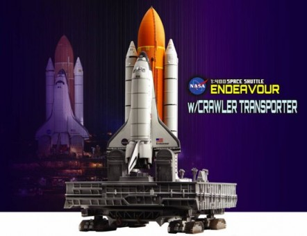 """Space Shuttle """"Endeavour"""" w/Crawler Transporter (Space) DRW56393 1:400"""