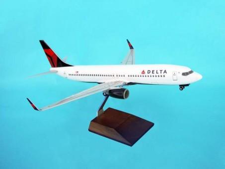 Delta 737-800W W/GEAR & Wood Stand NC Scale 1:100 SKR8206