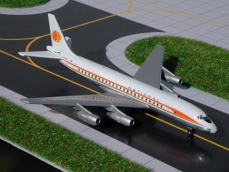 Rare! National Douglas DC-8-50 N875C GeminiJets GJNAL286A Tin packing Scale 1:400