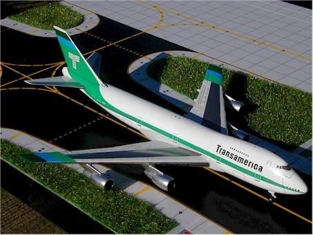 Scale! Transamerica Boeing 747-200 reg N742TV Gemini Jets GJTVA226 scale 1:400