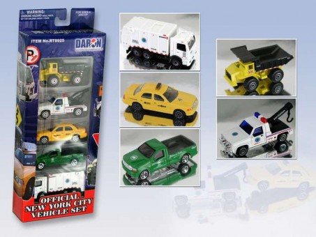 New York City Official 5 Piece Vehicle Set RT8925