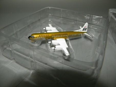 Braniff Lockheed L-188A Electra N9710C Jelly Bean Ochre 1/400 diecast Jet X