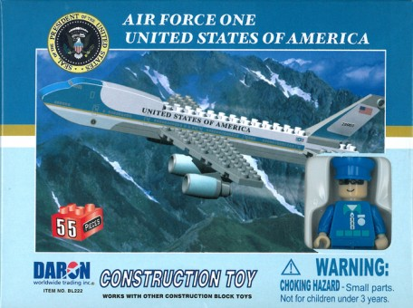 55 Presiden Piece Air Force One Airplane Jet and Action Figure  BL222 by Best-Lock