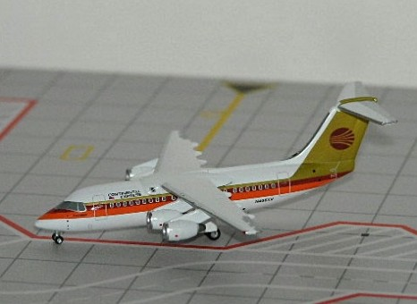1/400 CONTINENTAL  EXPRESS BAE 146-200  ~ N406XV (RED/GOLD)