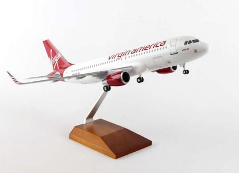 Virgin America Airbus A320 Wood Stand & Gear Skymarks Supreme SKR8325 Scale 1:100