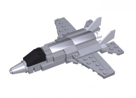 100 Piece F-35 Lightning II Fighter Jet W/Action Figure BL14189 by Best-Lock