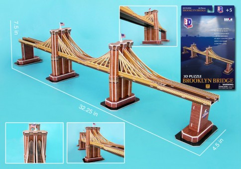 Brooklyn Bridge 3D Puzzle - 64 Pieces