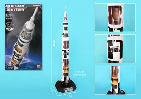 4D Vision Saturn V Cutaway Model Scale 1:100  PZ26117