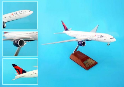 Delta 777-200LR On Wood Stand W/GEAR