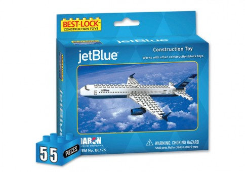 55 Piece JetBlue Airplane Jet and Action Figure BL175 by Best-Lock