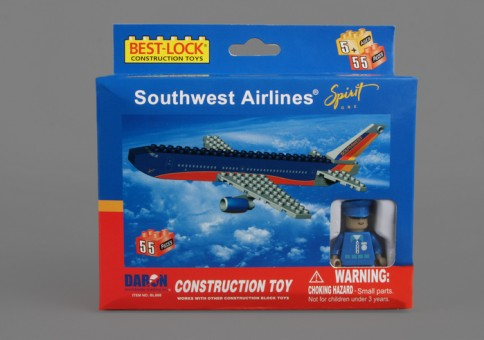 55 Piece Southwest Airplane Jet and Action Figure  BL888 by Best-Lock