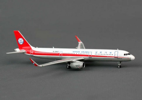 Sichuan Airlines A321 With Sharklets B-9967 Scale 1:400