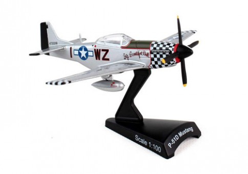 """North American P-51D Mustang """"Big Beautiful Doll"""" Postage Stamp PS5342-8 Scale 1/100"""