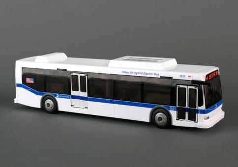 NYC Vehicles MTA 11 Inch Bus, Metropolitan Transit, RT8468 ,1:24