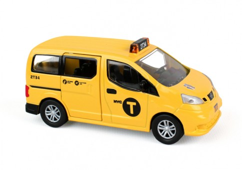 NYC Nissan NV200 Van Taxi Metropolitan Transit RT8965 scale 1:43