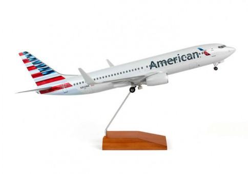 1:100 American 737-800 Reg# N803NN w/ Gear and Wood Stand Skymark SKR8244 Scale 1:100