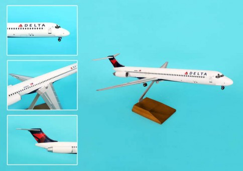 Delta MD-80 1/100 2007 Livery W/WOOD Stand & Gear  SKR8607