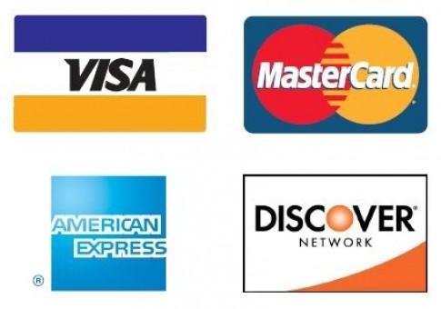 Visa, Master Card, American Express