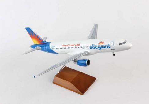 Allegiant Air Airbus A320 w/ Wood Stand & Gear Reg N223NV Skymarks SKR8324 Scale 1:100