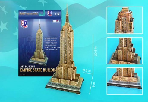 Empire State Building 3D Puzzle 56 Pieces