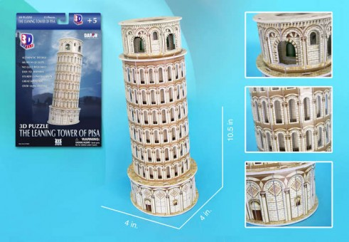 Leaning Tower Of Pisa 3D Puzzle 13 Pieces