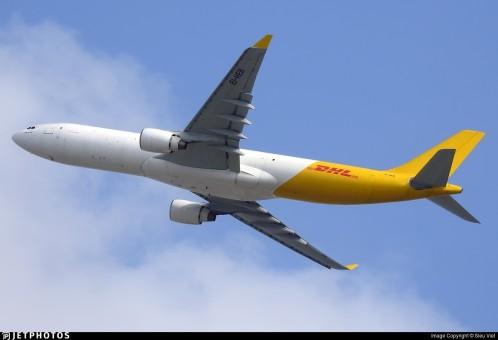 DHL/air Hong Kong Airbus A330-300(P2F) EI-HEB JC Wings JC4AHK427 scale 1:400