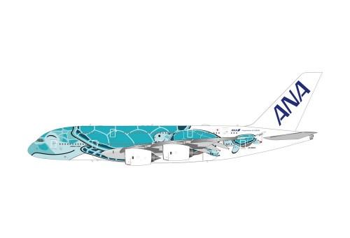 "Green Turquoise ANA Airbus A380 Sea Turtle ""Flying Kai"" Reg. JA382A diecast Phoenix 04212 scale 1:400"