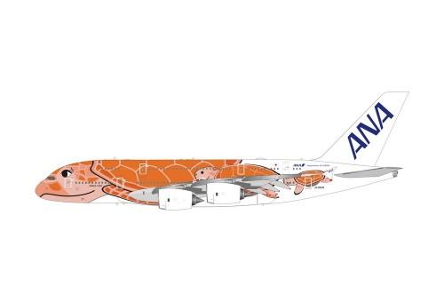 ANA Airbus A380 Sea Turtle Orange Ka La JA383A 全日空 All Nippon Phoenix 04388 scale 1:400