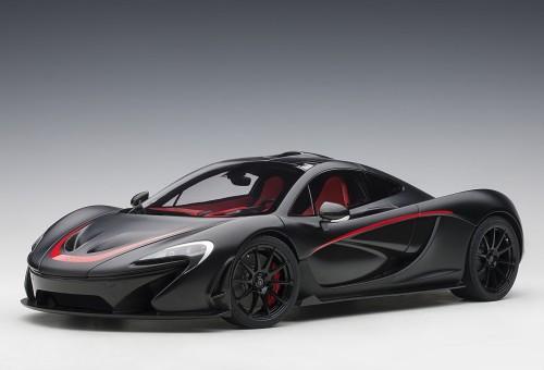 McLaren P1 Matt Black with Red Accents AUTOart 12241 scale 1:12