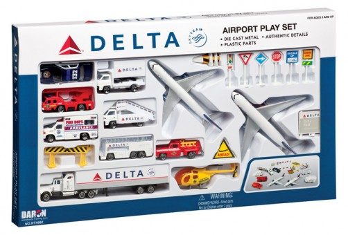 Delta Airlines 25 Piece Airport Play Set RT4992
